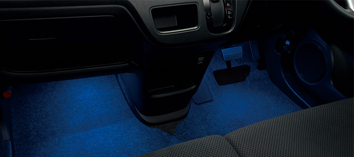 HONDA ホンダ NONE N-ONE エヌワン ホンダ純正 フットライト(LEDブルー照明/ドア開閉・スモールライト連動/フロント用/左右2個セット) 2014.5~次モデル | ライト 車 内装 室内 イルミネーション イルミ 後付け 照明 アクセサリー ポイント消化