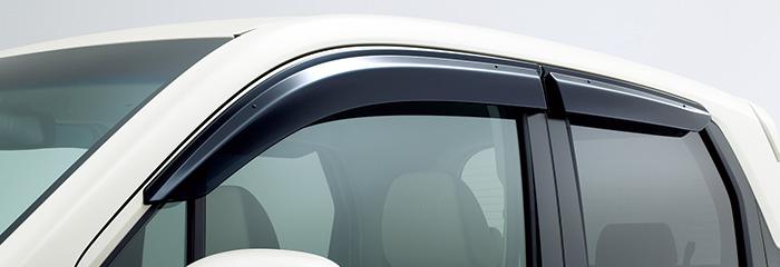 HONDA ホンダ NWGN N-WGN エヌワゴン ホンダ純正 ドアバイザー (フロント・リア用/左右4枚セット) 2013.11~次モデル | ドア バイザー 雨 雨よけ 後付け 取り付け 交換 部品 パーツ ポイント消化