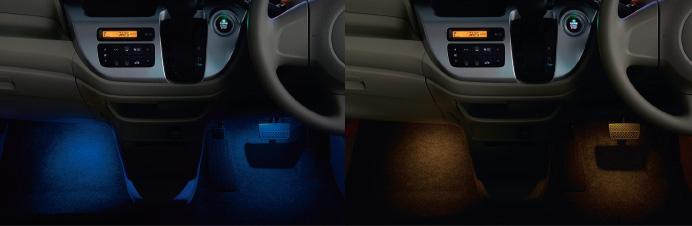 HONDA ホンダ NWGN N-WGN エヌワゴン ホンダ純正 フットライト 2013.11~次モデル | ライト 車 内装 室内 イルミネーション イルミ 後付け 照明 アクセサリー ポイント消化