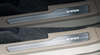 HONDA ホンダ NWGN N-WGN エヌワゴン ホンダ純正 サイドステップガーニッシュ LED(ホワイト)イルミネーション付(フロント左右2枚セット) 2015.10~次モデル