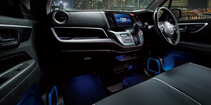 HONDA ホンダ NWGN N-WGN エヌワゴン ホンダ純正 LEDスピーカーリング&ドアポケットイルミネーション LEDブルー照明 2015.10~次モデル