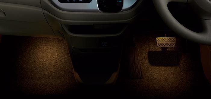 HONDA ホンダ NWGN N-WGN エヌワゴン ホンダ純正 フットライト(ドア開閉・スモールライト連動/フロント用左右2個セット) 2015.10~次モデル | ライト 車 内装 室内 イルミネーション イルミ 後付け 照明 アクセサリー ポイント消化