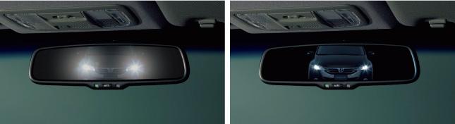 HONDA ホンダ ODYSSEY オデッセイ ホンダ純正 オートデイナイトミラー LEDイルミネーション付(ブルー照明) 本体+取付アタッチメント 2011.10~次モデル