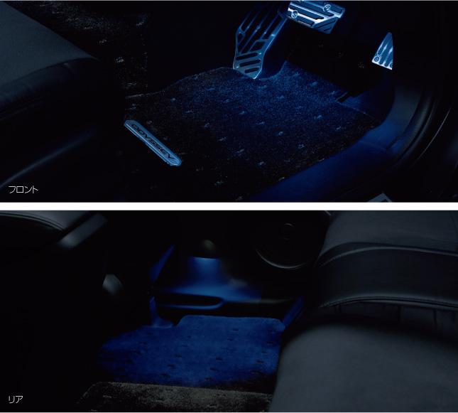 HONDA ホンダ ODYSSEY オデッセイ ホンダ純正 フットライト フロント/リア 左右セット イルミネーション(LEDブルー照明) 2011.10~次モデル   ライト 車 内装 室内 イルミネーション イルミ 後付け 照明 アクセサリー ポイント消化