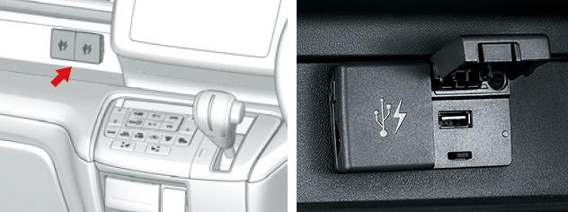 HONDA ホンダ STEPWGN ステップワゴン ホンダ純正 USBチャージャー(5V) フロント用(2口/各2.1A) 【 2015.4~次モデル】