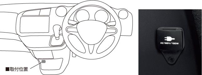 HONDA ホンダ STREAM ストリーム ホンダ純正 ACコンセント(100V/100W)【 2012.04~次モデル】