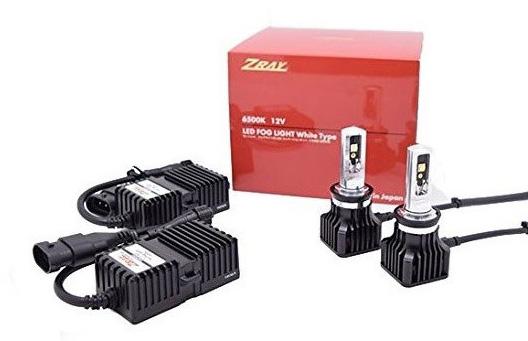 安心の日本製 車検対応品 長期3年保証 ZRAY RF1 フォグライト専用LEDバルブキット 日本正規代理店品 H16 6500k H11 12V車専用 H8 ギフ_包装 日本ライティング