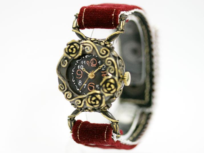 送料無料 Kaori Gothic Rose r手作り腕時計