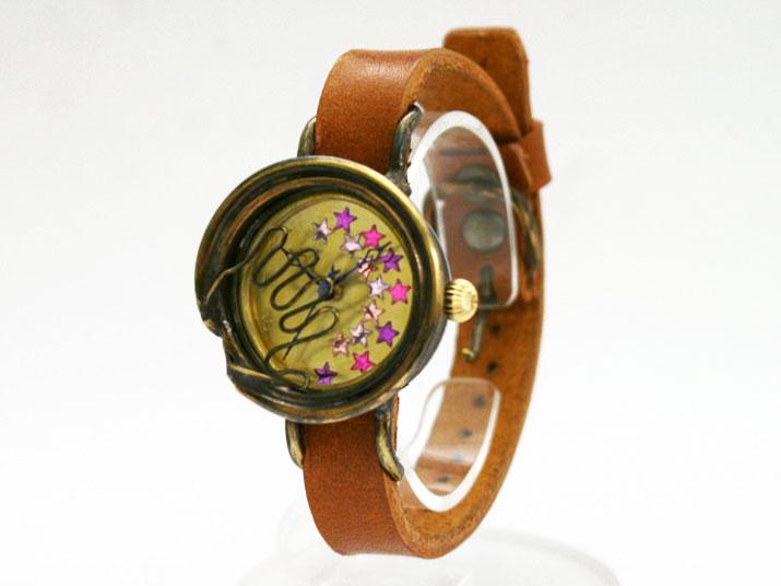送料無料 kiki 願い手作り腕時計