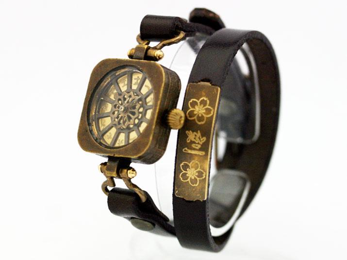 送料無料 Ks 扇流 (おおぎながし)手作り腕時計