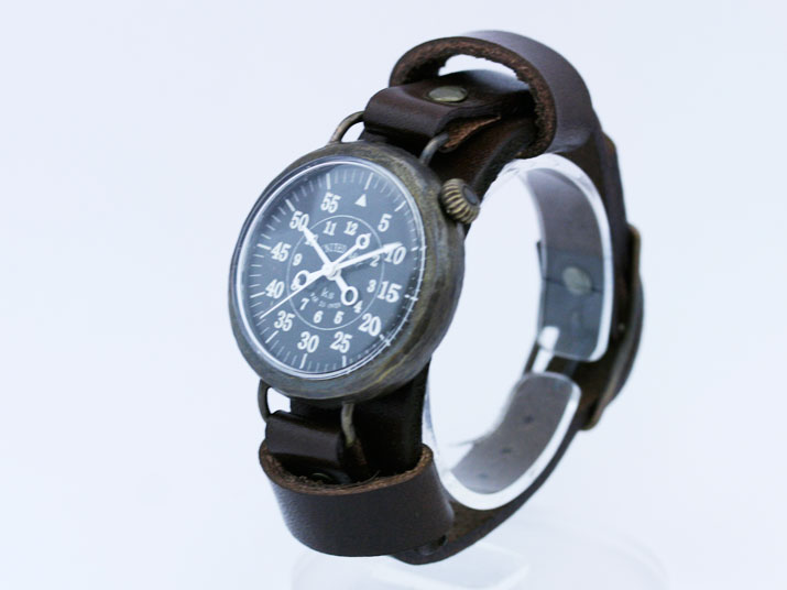 送料無料 Ks UNITED ARMY R/L (バックストラップ付き)手作り腕時計