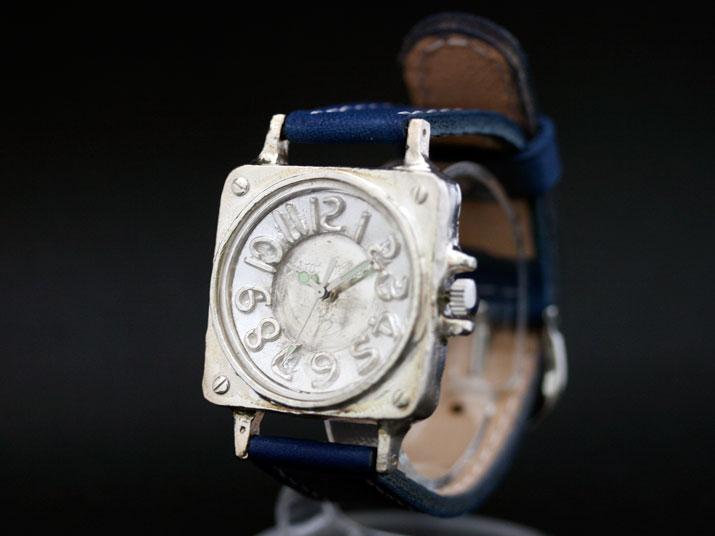 送料無料 Ks COCK PIT II SILVER手作り腕時計