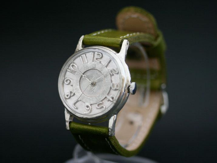 送料無料 Ks SILVER RETORO III手作り腕時計