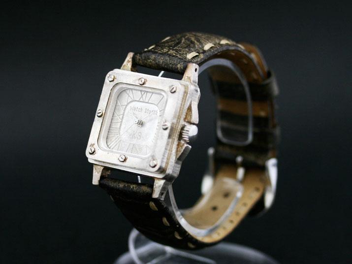 送料無料 Ks FOCUS SILVER手作り腕時計