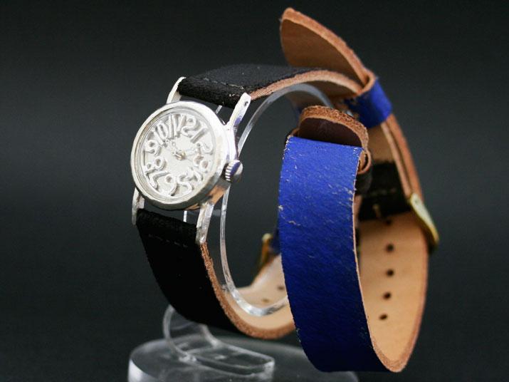 送料無料 Ks ダブルストラップ手作り腕時計