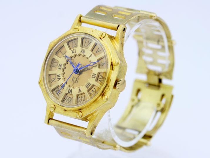 送料無料 Ks FLY BACK OCTAGON メタルバンド ( ローマ) 手作り腕時計