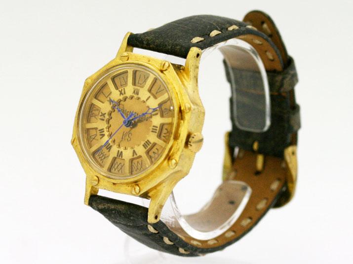送料無料 Ks FLY BACK OCTAGON (ローマ)手作り腕時計