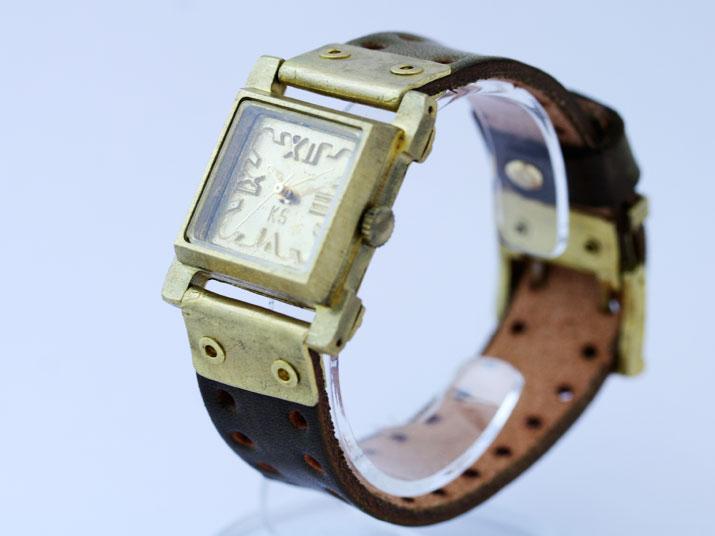 送料無料 Ks CONTRAST手作り腕時計