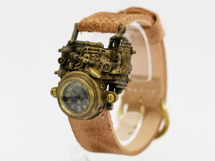 送料無料 Ks MechtopiaII (front view)手作り腕時計