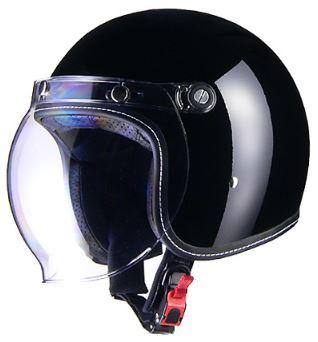 LEAD リード工業 Murrey MR-70 ジェットヘルメット ブラック Mサイズ | ジェット ヘルメット ヘルメ ブラック バイク 原付 メンズ レディース シールド バブルシールド かっこいい インナー おしゃれ ワンタッチ 交換 バイク用品 リード ヴィンテージ ポイント消化