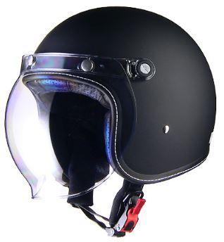 LEAD リード工業 Murrey MR-70 ジェットヘルメット マットブラック Mサイズ | ジェット ヘルメット ヘルメ マットブラック バイク 原付 メンズ レディース シールド バブルシールド かっこいい インナー おしゃれ ワンタッチ 交換 バイク用品 リード 開閉 UV ポイント消化