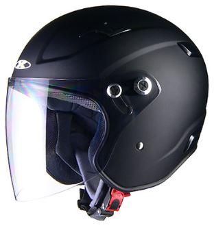 LEAD リード工業 X-AIR RAZZOIII ジェットヘルメット マットブラック Mサイズ | ジェット ヘルメット ヘルメ バイク 原付 二輪 メンズ レディース シールド かっこいい インナー あごひも ワンタッチ 交換 マットブラック 全排気量 バイク用品 リード RAZZO3 ポイント消化
