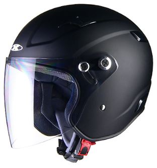 LEAD リード工業 X-AIR RAZZOIII ジェットヘルメット マットブラック Sサイズ | ジェット ヘルメット ヘルメ バイク 原付 二輪 メンズ レディース シールド かっこいい インナー あごひも ワンタッチ 交換 マットブラック 全排気量 バイク用品 リード RAZZO3 ポイント消化