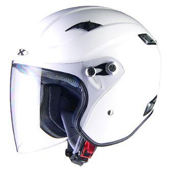 LEAD リード工業 X-AIR RAZZOIII ジェットヘルメット ホワイト Sサイズ | ジェット ヘルメット ヘルメ バイク 原付 二輪 メンズ レディース シールド かっこいい インナー あごひも ワンタッチ 交換 開閉 白 ホワイト 全排気量 バイク用品 リード RAZZO3 ポイント消化