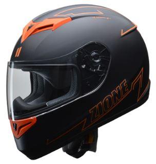 LEAD リード工業 ZIONE フルフェイスヘルメット オレンジ Lサイズ | フルフェイス ヘルメット ヘルメ かっこいい バイク おすすめ 原付 シールド インナー 人気 ワンタッチ 交換 全排気量 ブラック リード バイク用品 内装 オレンジ おしゃれ 通勤 ポイント消化