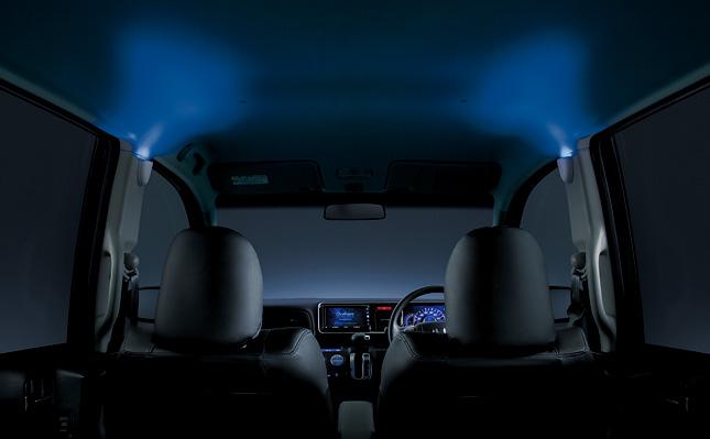 HONDA ホンダ LIFE ライフ ホンダ純正 ピラーイルミネーション センターピラー左右2個セット ブルーLED照明(ガーニッシュ色:ベージュ)
