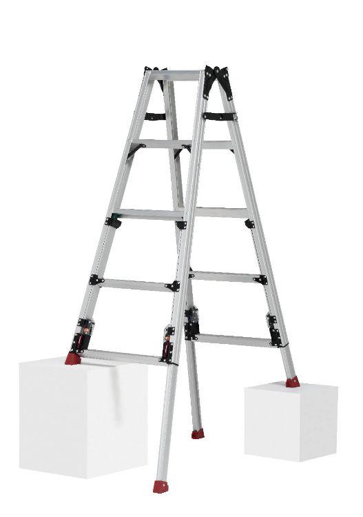 ピカコーポレーション PiCa 四脚アジャスト式はしご兼用脚立 上部操作タイプ SCN ロングスライドタイプ スタッピー 1.24~1.68 SCN-150LA | 脚立 ピカ 折りたたみ アルミ 工事 照明 用品 はしご 脚立 プロ 職人 整備 洗車 DIY