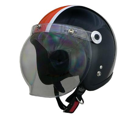 LEAD リード工業 スモールジェットヘルメット BARTON BC-10ブラック×オレンジ