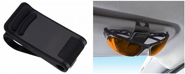車用品 車 カー用品 カーアクセサリー アクセサリー 内装 内装パーツ 収納 ホルダー サングラス クリップ ペン ペンホルダー チケット サンバイザー 星光産業 サングラスホルダー BK EC-185