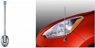車用品 車 カー用品 カーアクセサリー アクセサリー 外装 外装パーツ コーナーポール コーナー 一部予約 集光 実用的 フェンダーポールミニ メール便可 フェンダーポール EW-18 集光タイプ アウトレット 星光産業 見やすい