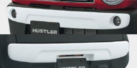 SUZUKI スズキ HUSTLER ハスラー スズキ純正 バンパーガーニッシュ フロント用 2015.7~次モデル