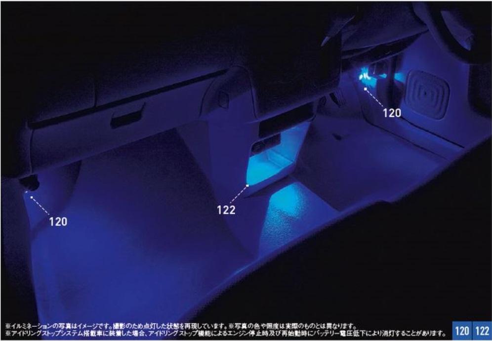 SUZUKI スズキ Lapin ラパン スズキ純正 フロアイルミネーション 2015.7~次モデル