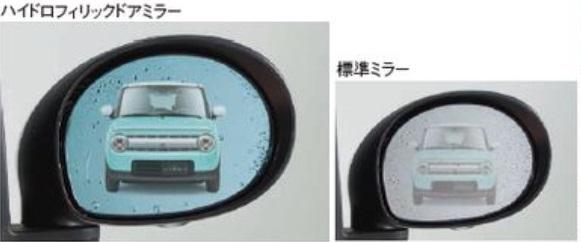 SUZUKI スズキ Lapin ラパン スズキ純正 ハイドロフィリックドアミラー 2015.7~次モデル