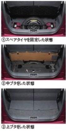SUZUKI スズキ MR wagon MRワゴン スズキ純正 スペアタイヤ固定キット タイプ1 2015.7~次モデル