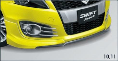 SUZUKI スズキ SWIFT スイフト スズキ純正 フロントアンダースポイラー/タイプ2 対応年式2015.7~次モデル