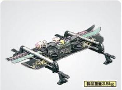 SUZUKI スズキ SX4 S-CROSS スズキ純正 スキー&スノーボードアタッチメント(平積み) 対応年式2015.7~次モデル