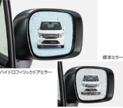 SUZUKI スズキ WAGONR ワゴンR スズキ純正 ハイドロフィリックドアミラー(2WD車用/交換タイプ/左右セット/ブルーミラー) 2015.8~次モデル