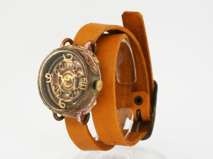 送料無料 en 独楽 手作り腕時計