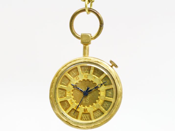 送料無料 Ks J POCKET II 手作り ペンダント型 時計