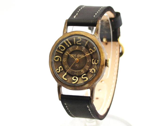 送料無料 Ks ULTRA SLIM BRASS 手作り腕時計