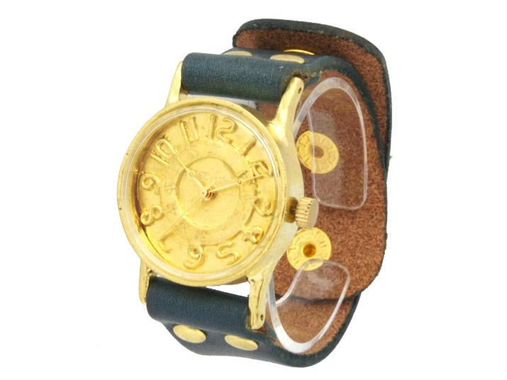 送料無料 Ks WING FLAP brass 手作り腕時計