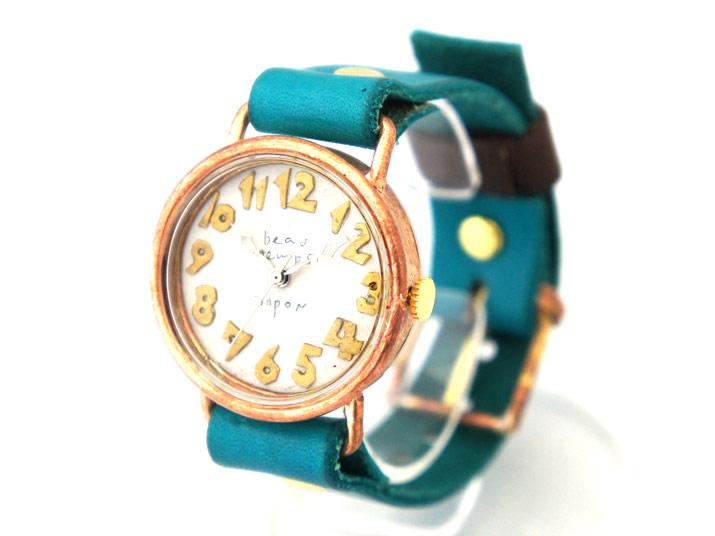 送料無料 YURIKO UNNO bien place 銀針 手作り腕時計