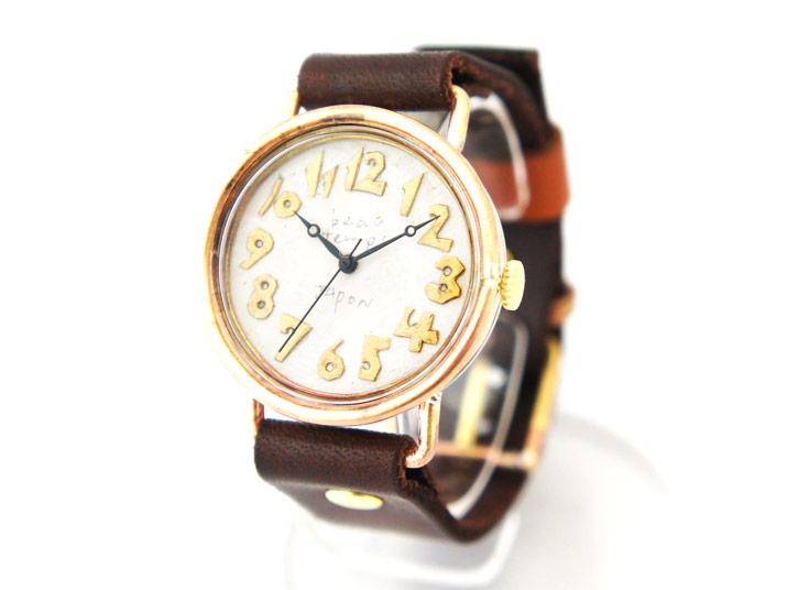 送料無料 YURIKO UNNO bien place 黒針 手作り腕時計