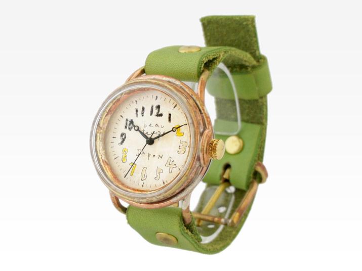 送料無料 YURIKO UNNO optimist 手作り腕時計