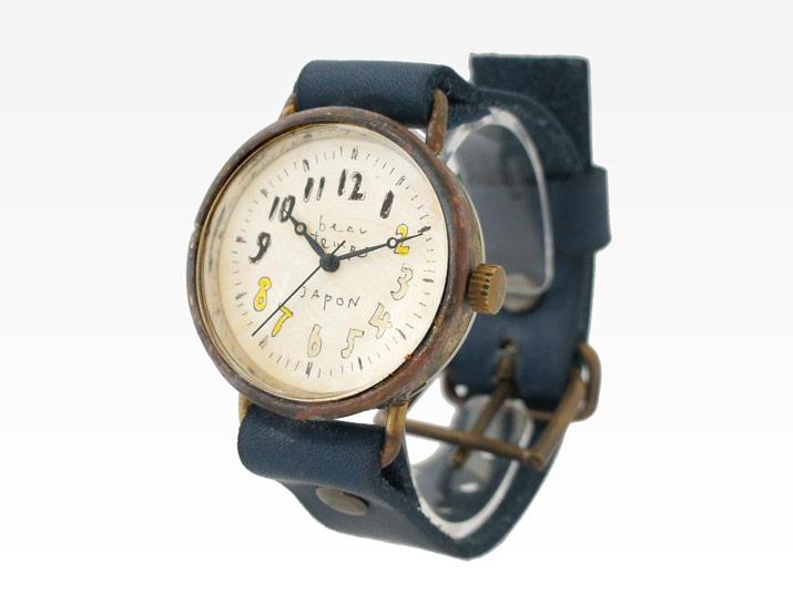 送料無料 YURIKO UNNO レゾンデートル 手作り腕時計