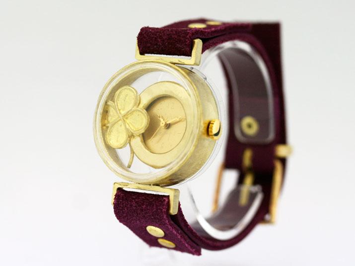 YURIKO UNNO タイムカプセル (ラッキークローバー)手作り時計